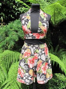 1940's Jungle print cotton seersucker two-piece **SOLD**